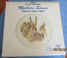 "Goebel 7 1/2"" Decorative Plate 1975 Mothers Series Handpainted Rabbits"