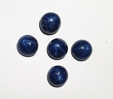 Natural Star Blue Sapphire Round Cabochon Loose Gemstone Lot 3 Pcs 10 MM 28 CT