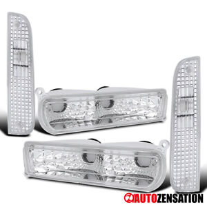 For 1997-2001 Jeep Cherokee Clear Corner Signal Lights+ Bumper Lamps 98 99 00