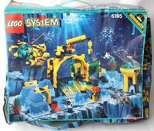 RARE VINTAGE 1995 LEGO SYSTEM 6195 AQUAZONE AQUANAUTS NEPTUNE LAB NEW MIB !