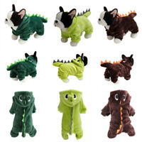 Pet Cats Dogs Clothes Dinosaur Cosplay Costume Funny Winter Puppy Party Jumpsuit