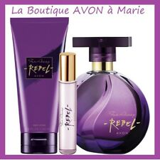 Set Perfume far away Rebel + Vapo Bag+Milk Body avon New