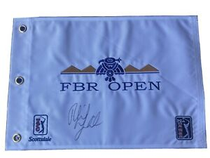 Phil Mickelson signed Phoenix Open Embroidered PGA Golf Flag Championship 2021