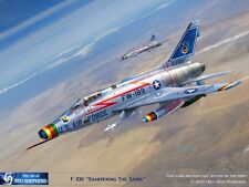 ART PRINT: F-100 Sharpening the Sabre by Shepherd