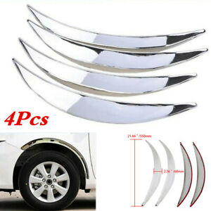 Wheel Eyebrow Arch Lips Trim Cover Fit For Car Truck SUV Fender Flares Protector