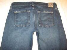 Chip & Pepper Anatedda Mid Rise Flare Jeans Dark Distressed Sz 28