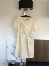 Cos Dress, Size L, Ivory, Short Sleeves, New! Fab