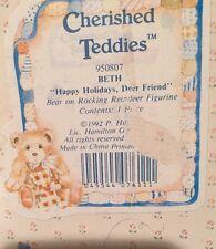 Cherished Teddies 950807 Beth Happy Holidays, Deer Friend