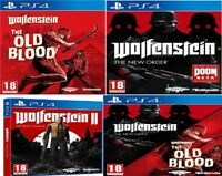 PS4 Wolfenstein 2 The New Colossus II Order Old Blood Double Pack MINT FAST DEL