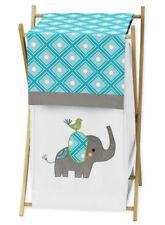 Kids Childrens Clothes Laundry Hamper For Jojo Modern Elephant Jungle Bedding