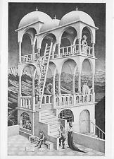 M.C. Escher postcard  Belvedere 1958