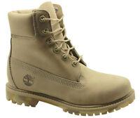 Timberland AF Premium Nubuck 6 Inch Womens Boots Camo Sole Beige A148U T4