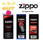 Zippo Lighter 4.oz Fuel Fluid And 1 Flint & 1 Wick Value Combo Gift Set