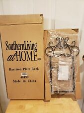 Southern Living At Home Harrison Plate Rack Iron Metal Decor - #40499 NIB