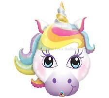 "38"" UNICORN RAINBOW NEWEST DESIGN Magical Pegasus Fairy Balloon FREE SHIP"