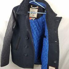Premium Peacoat Vintage SuperDry Jacket Mens Large Heavyweight Wool