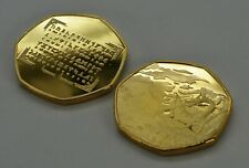 JRR TOLKIEN & MIDDLE EARTH 24ct Gold Commemorative. Rune Translator, Dragons
