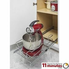 "Metal Basket Shelf Pullout Organizer for 15"" Base Cabinet Kitchen Vanity Mixer"