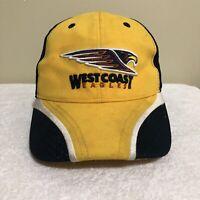 West Coast Eagles AFL Football Blue Size 58cm Adult Mens Baseball Cap Hat