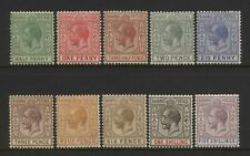 Bahamas 1921 - 1934 Collection 10 KGV Values Mounted Mint