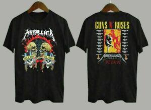 Guns N Roses Metallica Tour 92 Concert Retro Vintage T-Shirt Unisex All Size