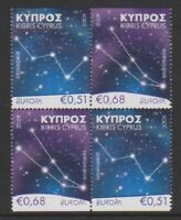 Cyprus - 2009, Europa, Gastronomy set in Block of 4 - MNH - SG 1188/9