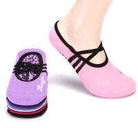 Women Non-Slip Yoga Socks with Grip for Pilates Ballet Dance Gym Sport ExercCHP