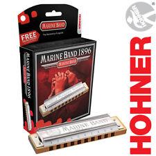 Hohner Marine Band Harmonica Diatonic 1896BX Blues Rock Pop Harp KEY OF A