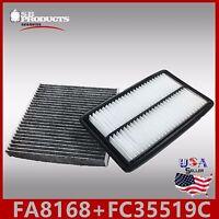 FA8168 FC35519C(CARBON) ENGINE & CABIN AIR FILTER ~ 2014-15 ACURA MDX V6 3.5L