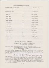 Huddersfield Town v Ipswich Town 83-84 Friendly Match Original A4 Single Sheet