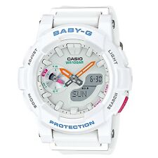 Casio Baby-G BGA-185-7A White Analog Digital Women's Sports Watch