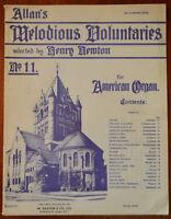 Allan S Melodious Voluntaries Für American Orgel No.11 Arranged Von Henry Newton