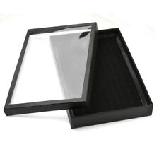 Wholesale 100 Slots Ring Black Jewelry Display Show Case Velvet Tray Boxes Case