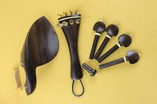 10 set New undyed ebony Luthier violin parts 4/4 full size Violin Accessories