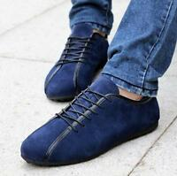 Hot Fashion England Men's Comfort Leather Lace Up Shoes Driving Moccasins Shoes