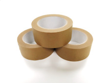 More details for 48mm x 50m biodegradable brown kraft paper tape eco friendly recyclable - 3 pack