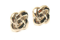 9ct Gold Knot Studs earrings, Gift Boxed Studs Made in UK Christmas Gift