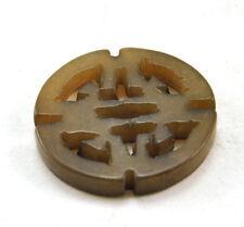 Carve Pendant Bead Charm Longevity Sign 4 x Vintage Jade Natural Stone Hand