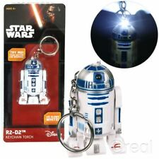 Neu Star Wars R2-D2 Schlüsselanhänger Fackel Schlüsselband Led Offiziell