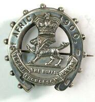 Boer war Buffs Royal East Kent Regiment Silver plate  Sweetheart Brooch 1900