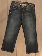 Denim by Jason Trotzuk Fidelity Capri Jeans Blue Dark Wash Womens Sz 25 VGUC