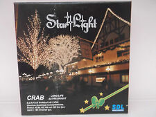 Quality outdoor Christmas tree lights with 90 small clear bulbs 6.3 meters