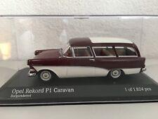 Minichamps 430043218 OPEL Rekord P1 Caravan 1:43 ,Borgoña, Coche a Escala
