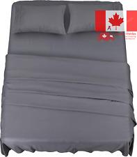 Bed Sheet Set - 4 Piece Queen Bedding - Soft Brushed Microfiber Fabric - Shri...