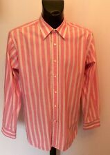 TOMMY HILFIGER PINK & WHITE STRIPE  LONG SLEEVE COTTON SHIRT SIZE L