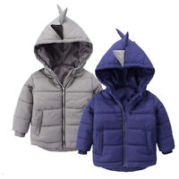 Toddler Kids Baby Boy Winter Warm Padded Hooded Coats Jacket Snowsuit Outerwear