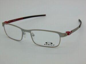 OAKLEY TINCUP OX3184-0750 Powder Satin Chrome 50mm Rx Authentic Eyeglasses