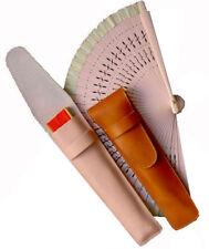 Funda de abanico en piel de Ubrique. Estuche de cuero para proteger tu abanico.