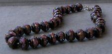 VINTAGE Murano Glass Beads Necklace WEDDING CAKE