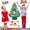 DIY Felt Christmas Tree Set - Ornaments for Kids Xmas Gifts Decor UK